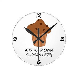 Customize this Choc Chip Muffin graphic Round Clock