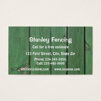 Customize this Fencing Business Card