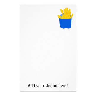 Customize this French Fries graphic Stationery Paper