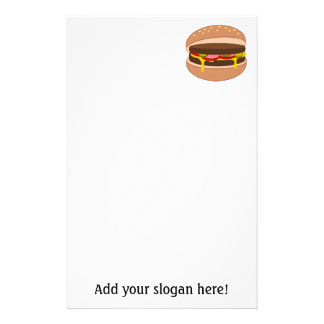 Customize this Hamburger graphic Personalized Stationery