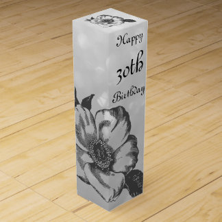 Customize this Happy 30th Birthday Wine Gift Box