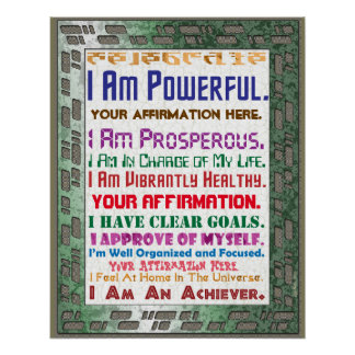 Customize this High Tech Affirmation Poster