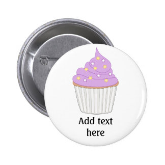 Customize this Lilac Cupcake graphic 6 Cm Round Badge