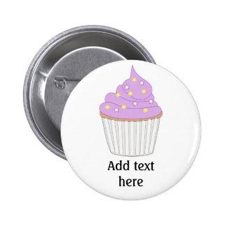 Customize this Lilac Cupcake graphic 6 Cm Round Badge