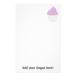 Customize this Lilac Cupcake graphic Customised Stationery