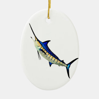 Customize this Marlin with your Boat Name Ceramic Ornament