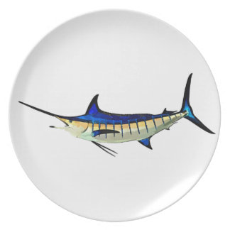 Customize this Marlin with your Boat Name Dinner Plate