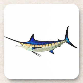 Customize this Marlin with your Boat Name Drink Coasters