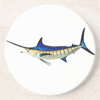 Customize this Marlin with your Boat Name Sandstone Coaster