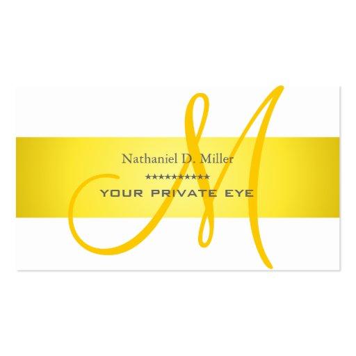 Customize this monogram business card
