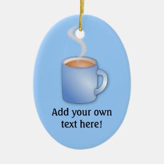 Customize this Mug of Coffee graphic Ceramic Ornament