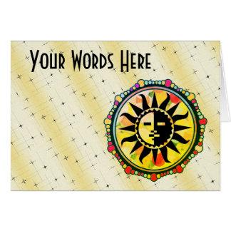 Customize this Multicolor Sun Motif Card