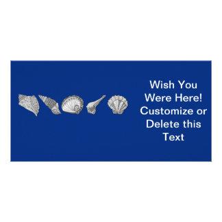 Customize This Original Seashell Art Photo Greeting Card