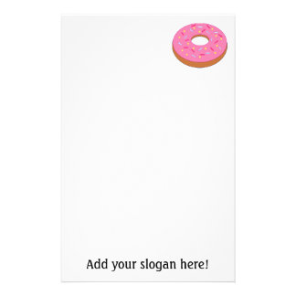 Customize this Ring Doughnut Graphic Stationery Design