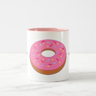Customize this Ring Doughnut Graphic Two-Tone Mug
