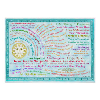 Customize this Sunrise Affirmation Poster