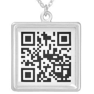 Customize to Share Your Favorite Site! Silver Plated Necklace