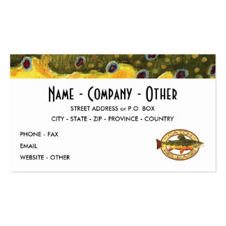Customize Trout Fishing Pack Of Standard Business Cards