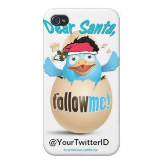 Customize Twitter Dear Santa Gifts Apparel iPhone 4/4S Cover