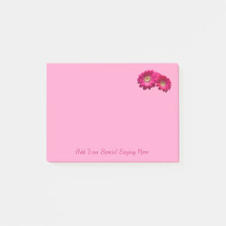 Customize Vibrant Rose Pink Gerbera Daisy Notepad
