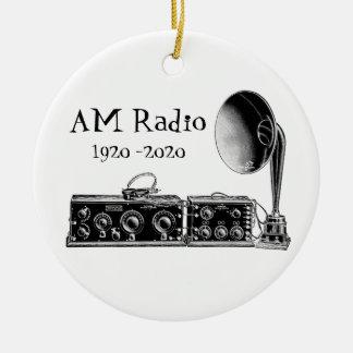 Customize Vintage AM Radio Receiver Ceramic Ornament