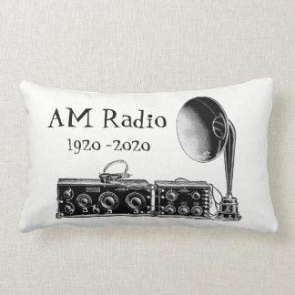 Customize Vintage AM Radio Receiver Lumbar Cushion