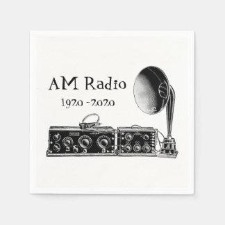 Customize Vintage AM Radio Receiver Paper Napkins