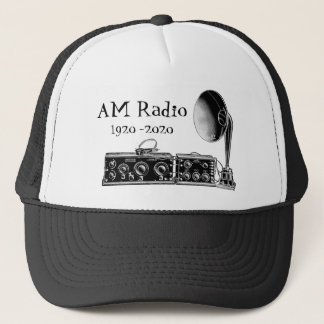 Customize Vintage AM Radio Receiver Trucker Hat