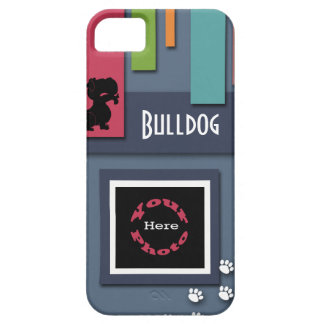Customize w/ Your Dog Photo - Bulldog Themed iPhone 5 Cases