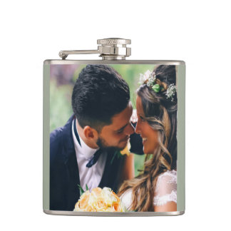 Customize Wedding Couple Photo Gift Hip Flask