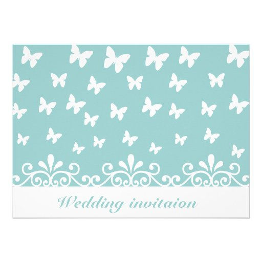 Customize Wedding invitation with butterflies