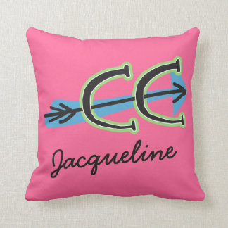 Customize - Whimsical Cross Country - CC Symbol Throw Pillow