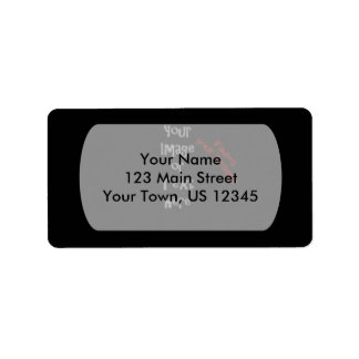 Customize with personalized pictures and text address label