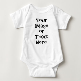 Customize with personalized pictures and text baby bodysuit