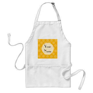 Customize Yellow & White Flowers Kitchen Gifts Standard Apron