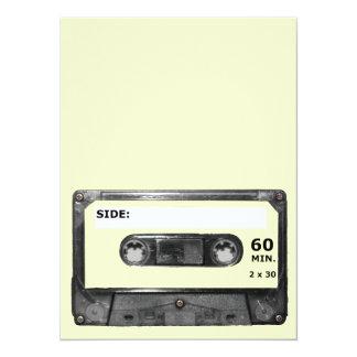 Customize Your Color Cassette 14 Cm X 19 Cm Invitation Card