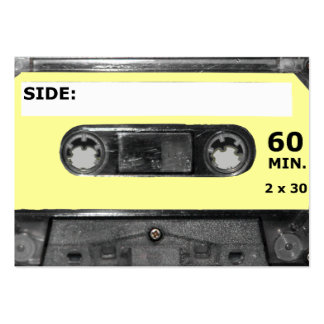 Customize Your Color Cassette Pack Of Chubby Business Cards