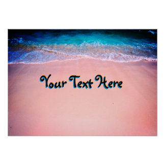 Customize Your Exotic Beach Poster