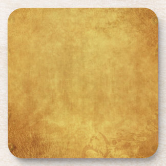 CUSTOMIZE YOUR GOLD BACKGROUND BEVERAGE COASTERS