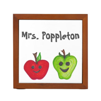 Customize Your Happy Apples Teacher Desk Organizer Desk Organisers