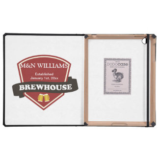 Customize Your Name Brewhouse Logo iPad Cover