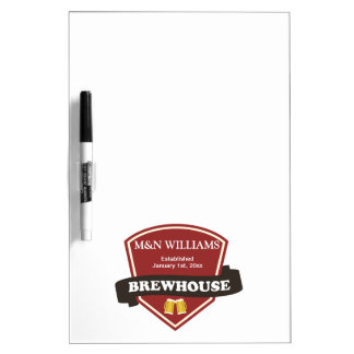 Customize Your Name Brewhouse Logo Dry Erase Board