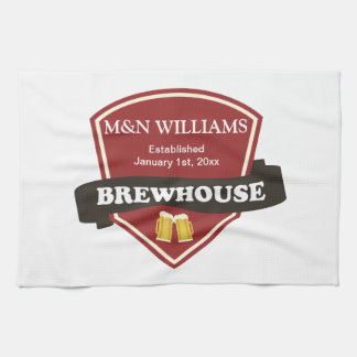 Customize Your Name Brewhouse Logo Tea Towel