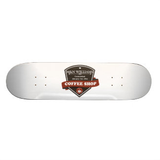Customize Your Name Coffee Shop Logo Skate Decks