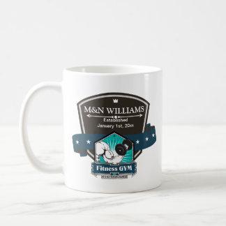 Customize Your Name Fitness Gym Logo Mug