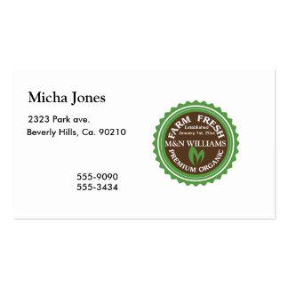 Customize Your Name Organic Farm Logo Business Card