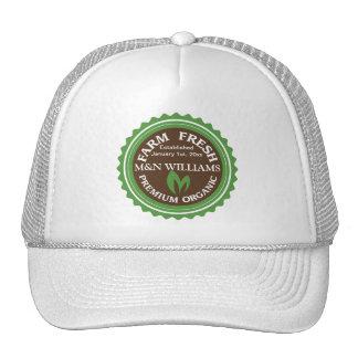 Customize Your Name Organic Farm Logo Hat