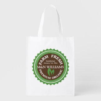 Customize Your Name Organic Farm Logo Market Tote