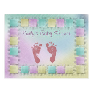 Customize your own baby shower postcard