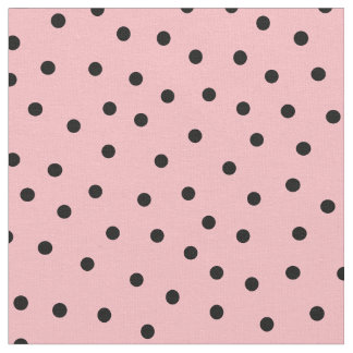 Customize your own black polka dots in pink fabric